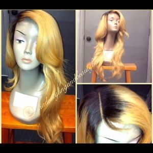 Accessories - Platinum Blonde Virgin Human Hair Wig